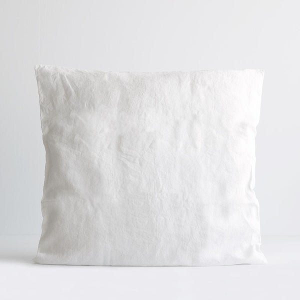 A&C Flax Linen Euro Pillowcase - White