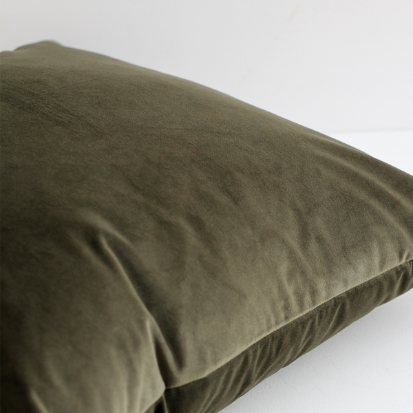 A&C Large Velvet Cushion - Army