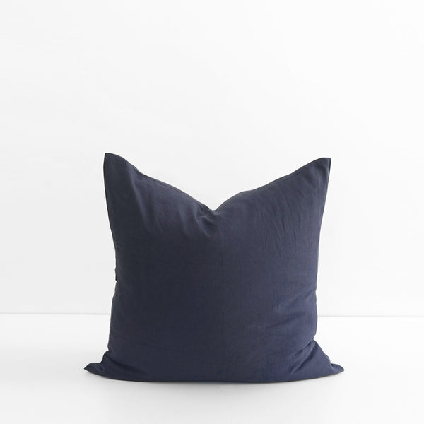 A&C Flax Linen Euro Pillowcase - Midnight