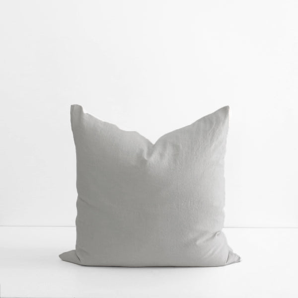 A&C Flax Linen Euro Pillowcase - Smoke Grey