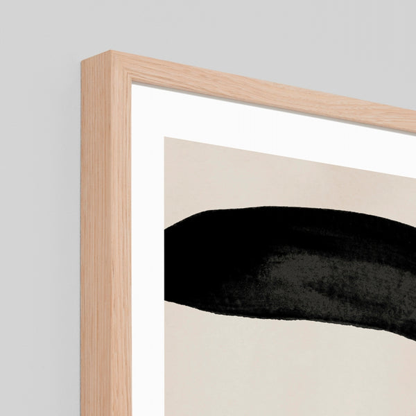 Abstract Features Framed Art - Onyx