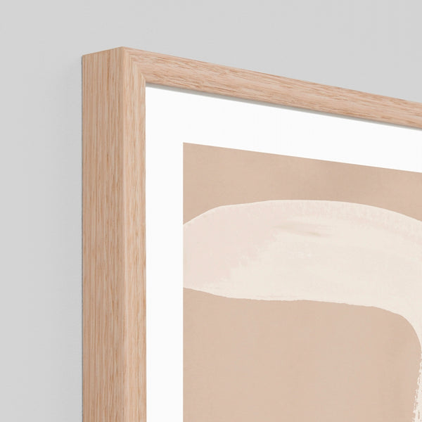 Abstract Features Framed Art - Sand