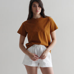 Aisha Cotton T-Shirt - Toffee