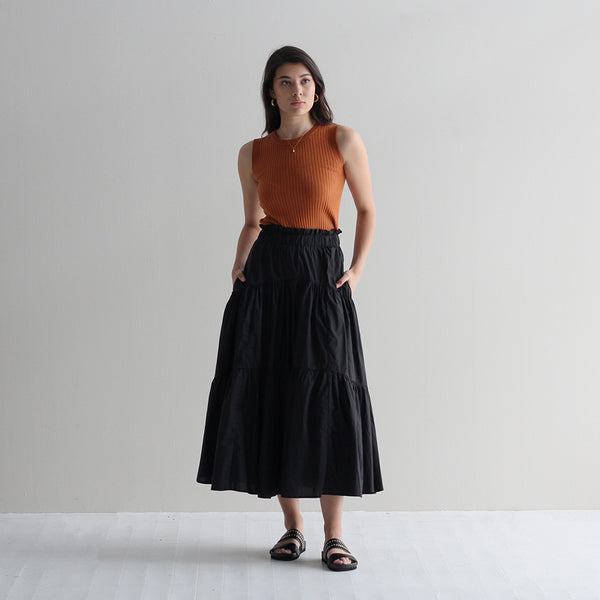 Alex Frill Skirt - Black