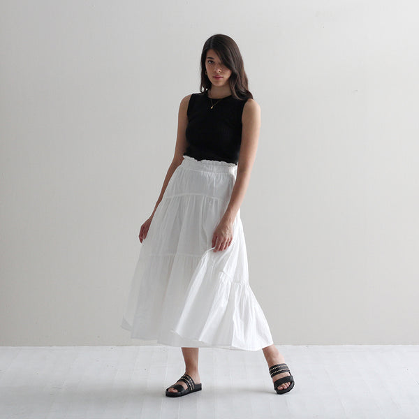 Alex Frill Skirt - White