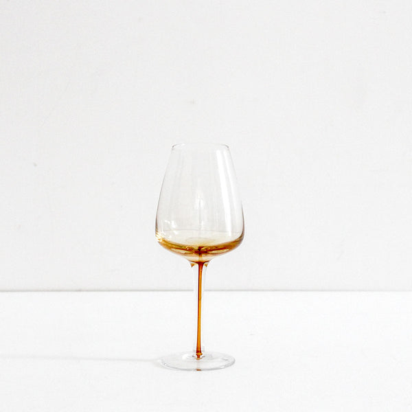 Amber White Wine Glass