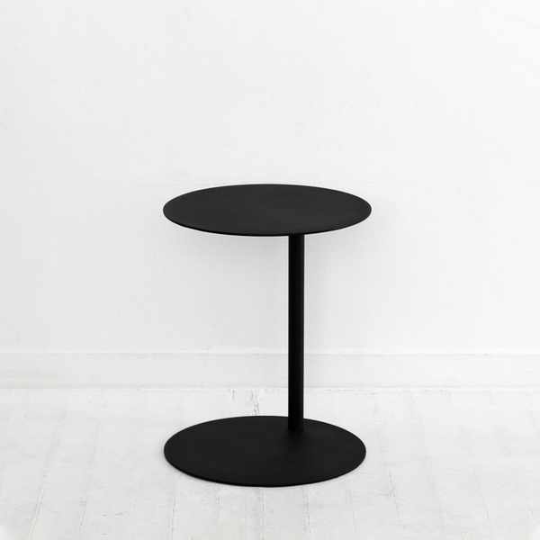 Archie Round Side Table Tall - Black