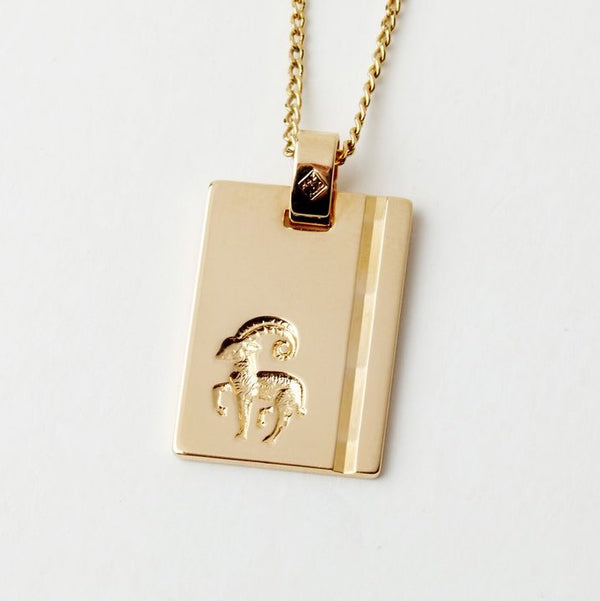 Aries Star Sign Pendant Necklace