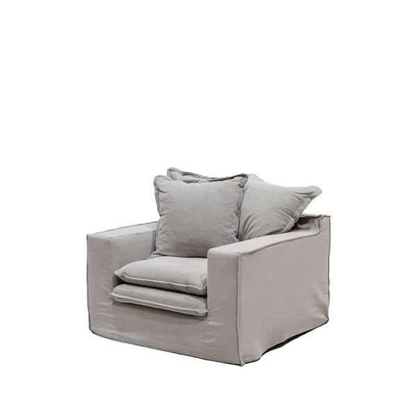 Asher Slipcover Armchair - Cement