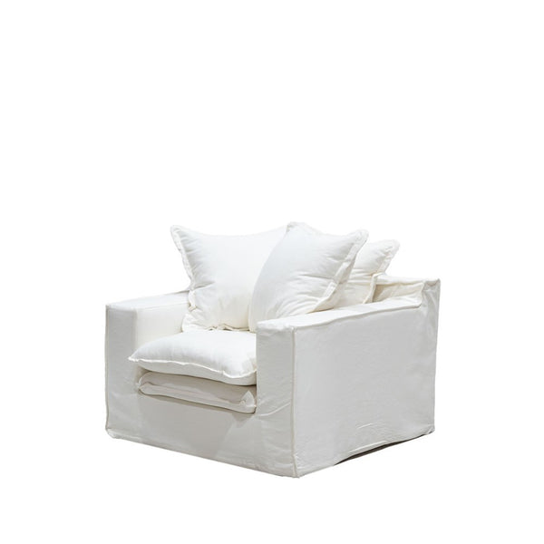 Asher Slipcover Armchair - White