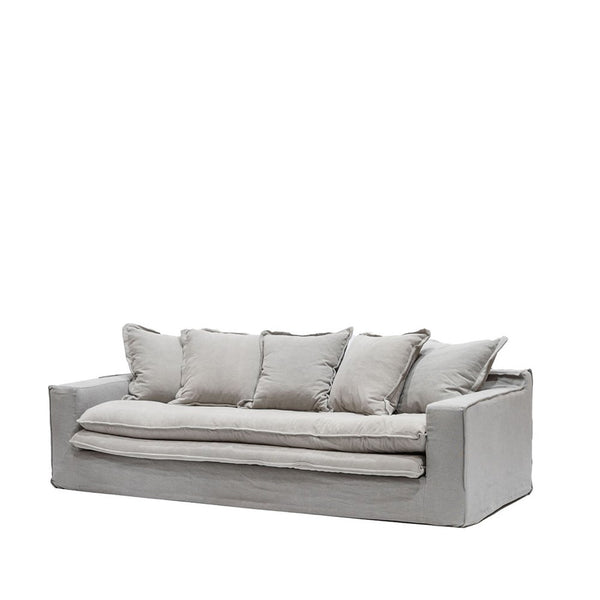 Asher Slipcover Sofa - Cement