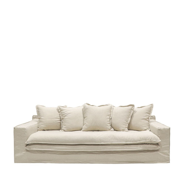 Asher Slipcover Sofa - Oatmeal