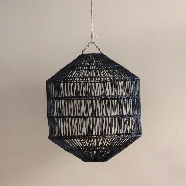 Azin Jute Octagonal Light - Black