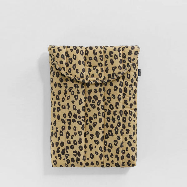 "Puffy Laptop Sleeve 16"" - Honey Leopard"