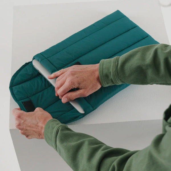 "Puffy Laptop Sleeve 16"" - Malachite"