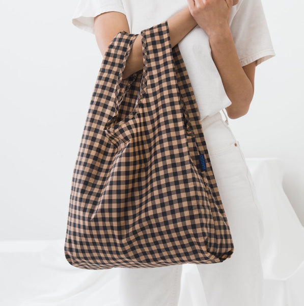 Gingham Copper Reusable Bag