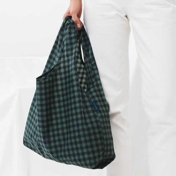Gingham Green Reusable Bag