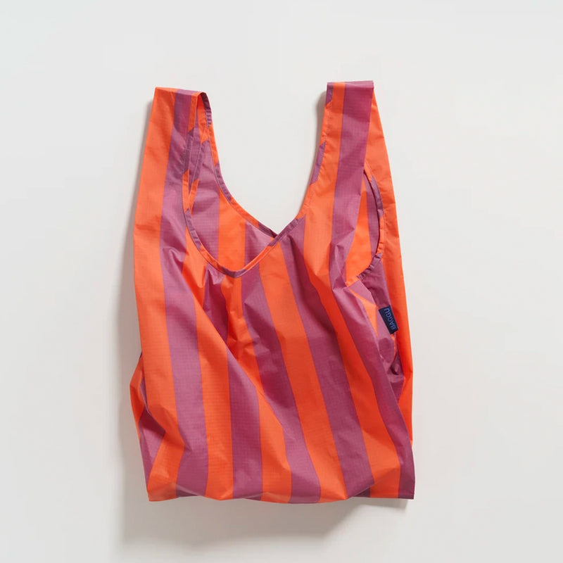 Stripe Reusable Bag -Mauve/Orange