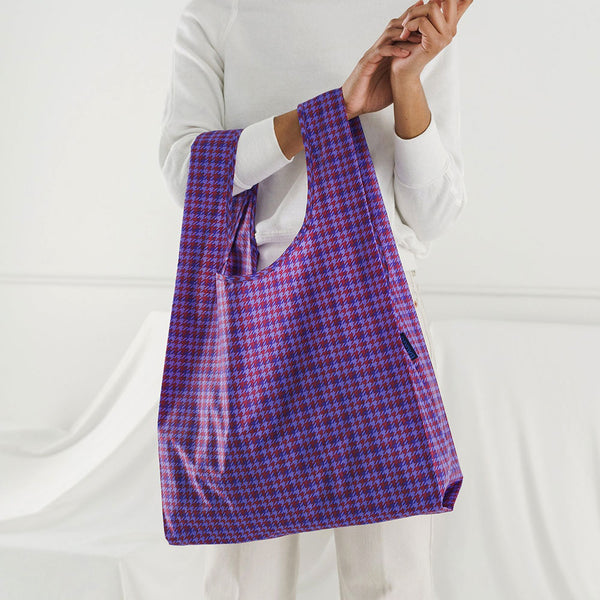Blue Tweed Reusable Bag
