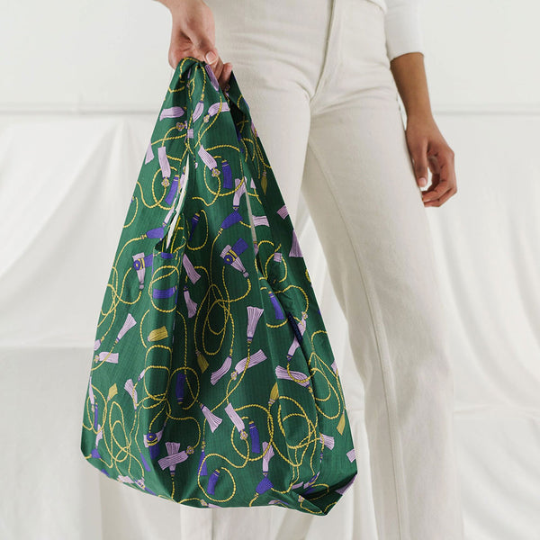 Green Tassel Reusable Bag