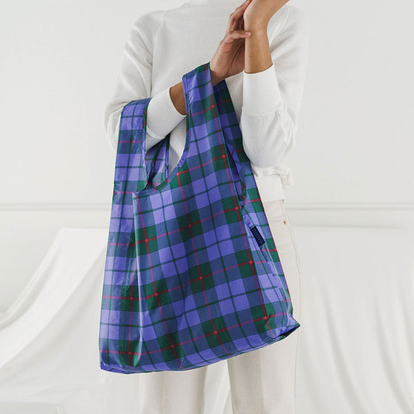Blue Tartan Reusable Bag