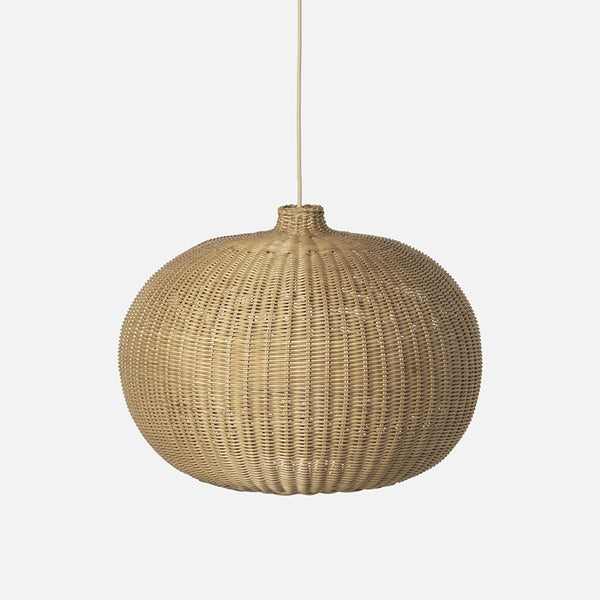Belly Shade - Natural Braided Rattan