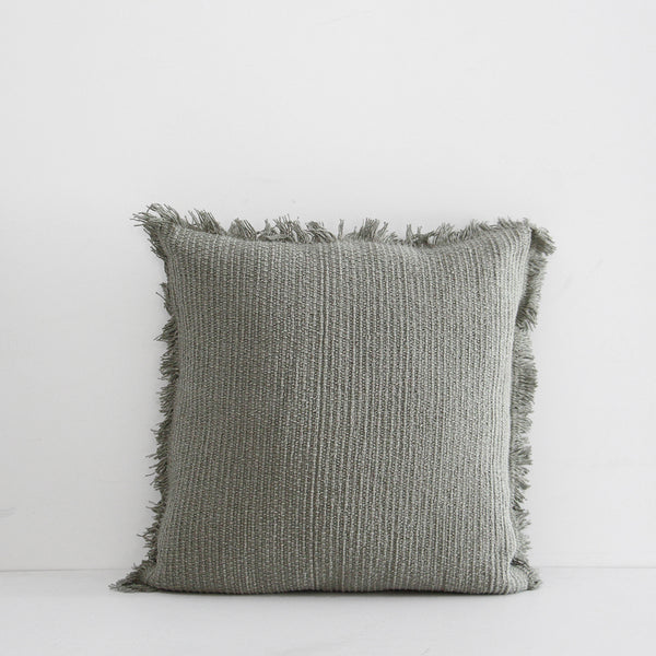 Berwick Fringe Cushion - Leaf