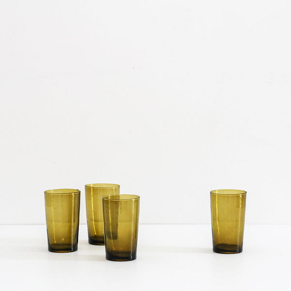 Water Glass Straight - Mustard