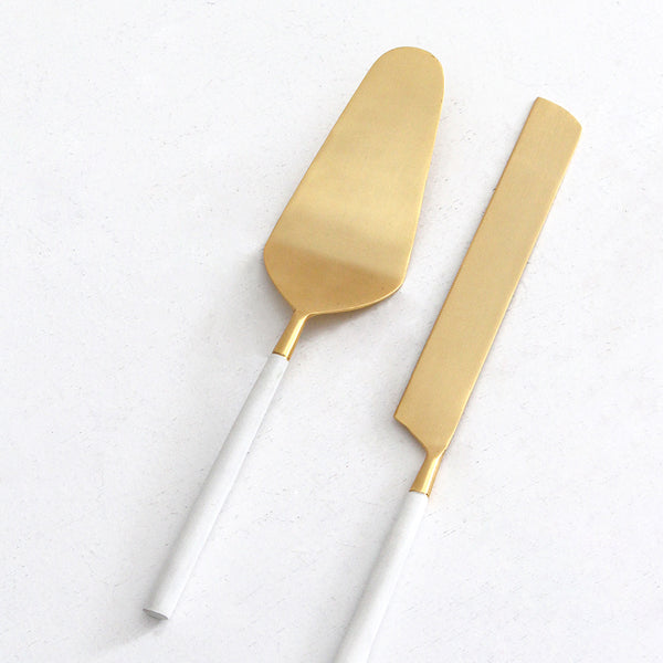 Bianco Cake and Knife Set