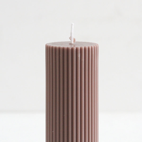 Wide Column Pillar Candle - Beige