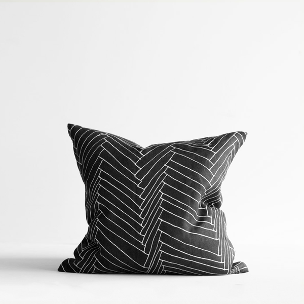 Black Thatch Small Linen Cushion w Inner