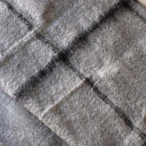 Bliss Grid Throw - Lunar Rock/Black