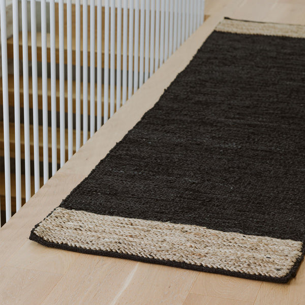 Bogota  Hall Runner - Black/ Natural