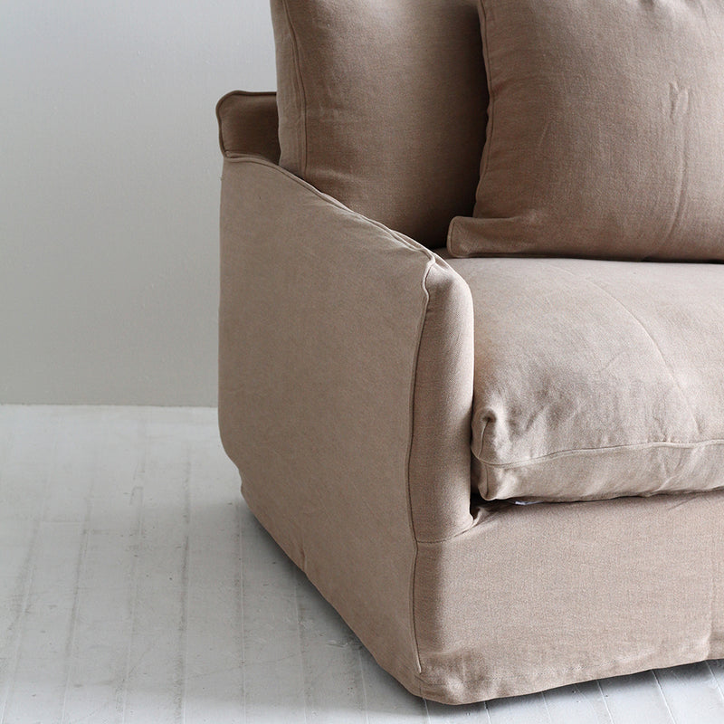 Boston Slipcover Armchair - Taupe Pink