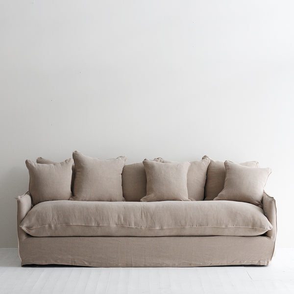 Boston Slipcover Sofa - Taupe Pink