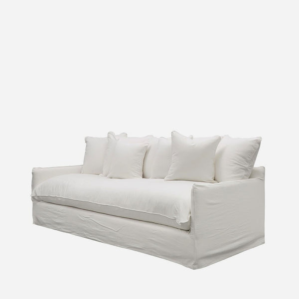 Boston Four Seat Sofa - White