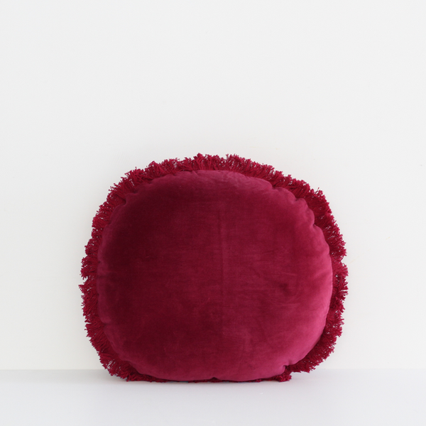 Boudoir Round Cushion - Berry