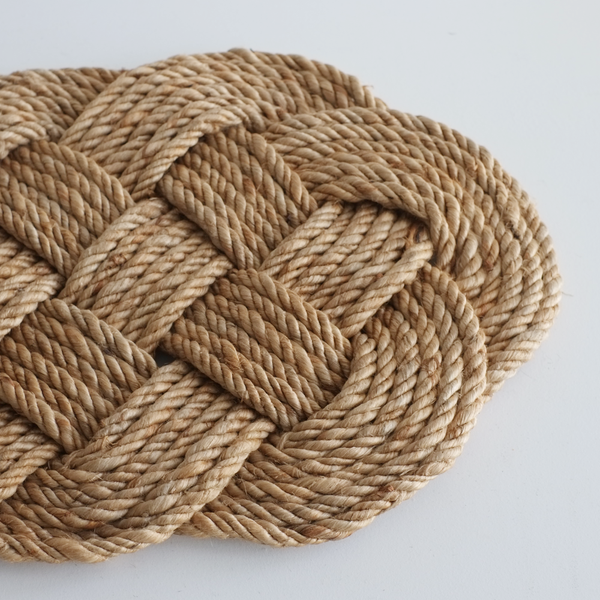 Braided Rope Doormat - Jute