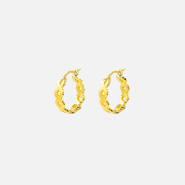 Plait Hoops - Gold
