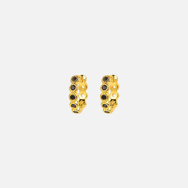 Redondo Pillar Earrings - Gold/Black