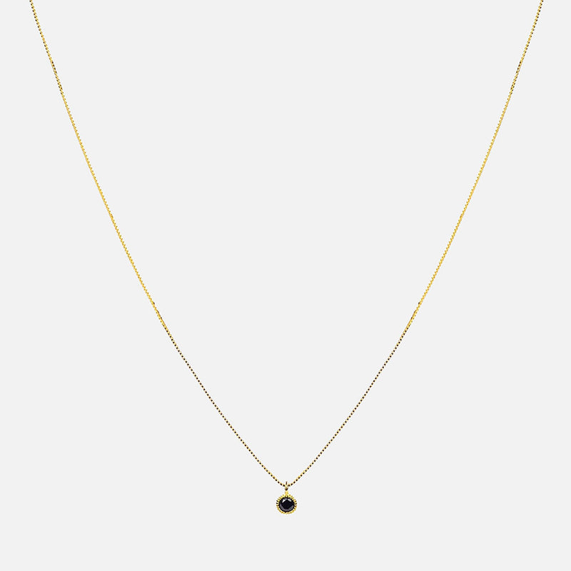 Redondo Drop Necklace - Black/Gold