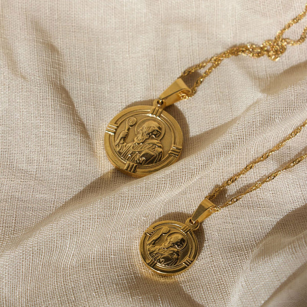 Saint Christopher Pendant - Signature Gold