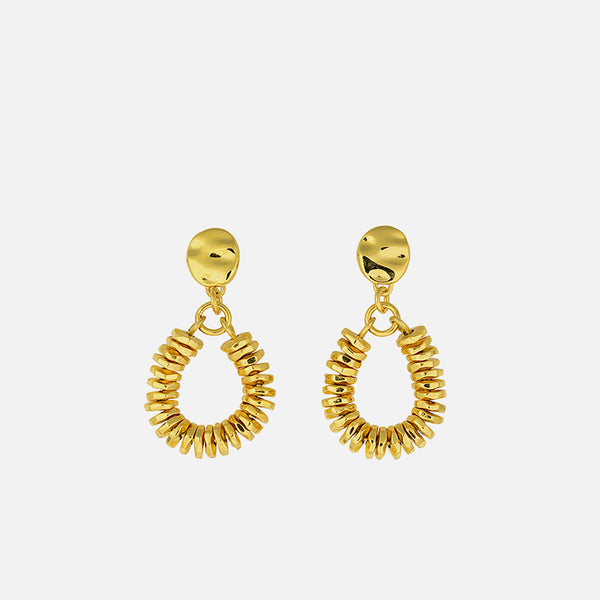 Valerie Drop Studs Gold