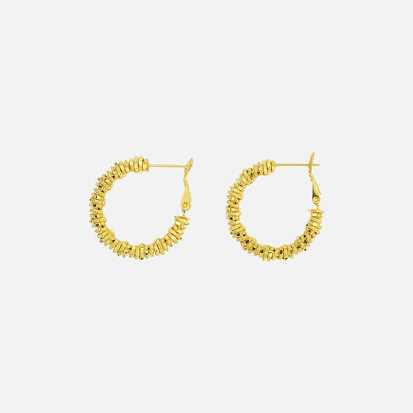 The Zoe Stack Hoops - Gold