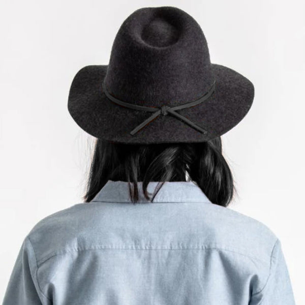 Wesley Fedora - Heather Black