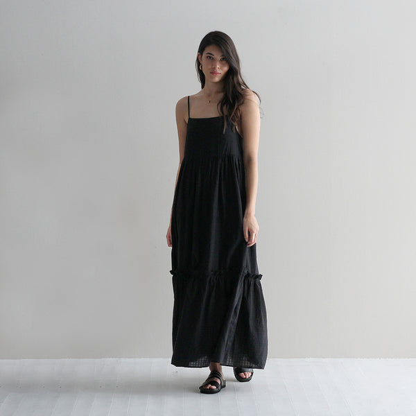 Brooke Frill Dress - Black