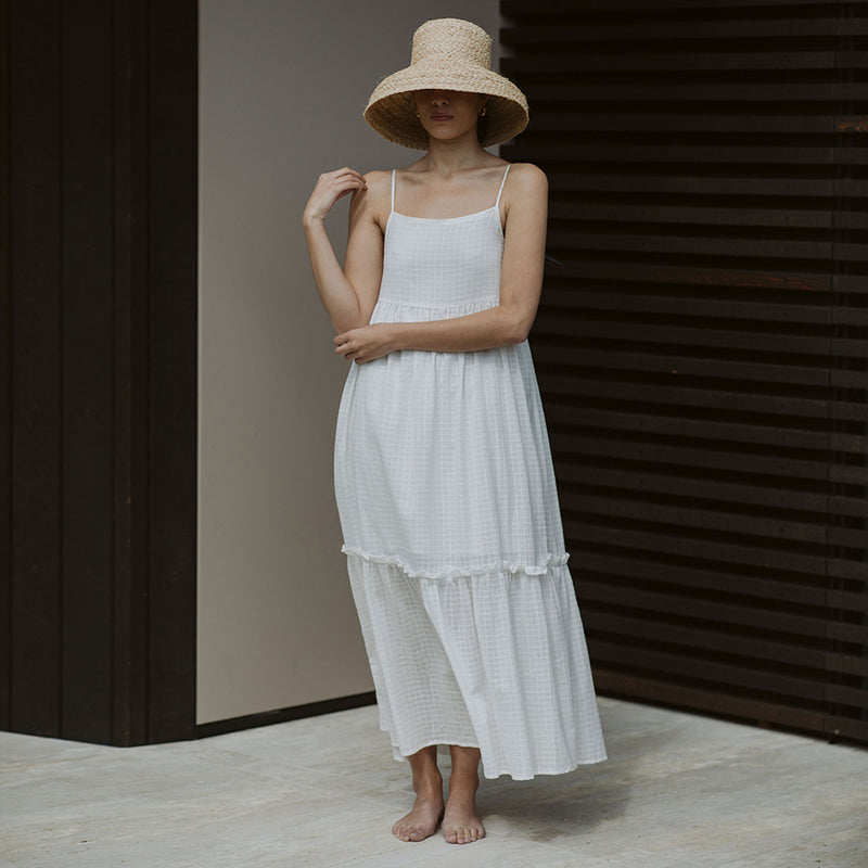 Brooke Frill Dress - White