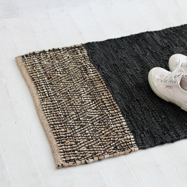 Caracas Entrance Mat - Black/ Saddle