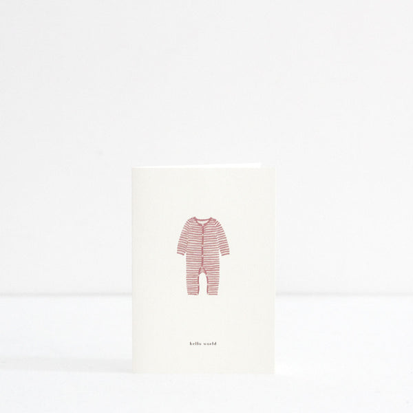 Blush Baby Onesie Card