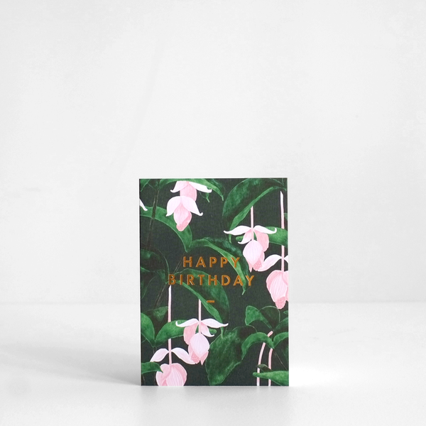 Medinilla Happy Birthday Card